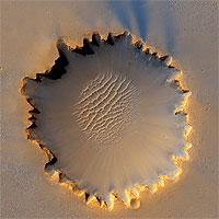 La sonda espacial 'Opportunity' toma una espectacular fotografía de un cráter de Marte